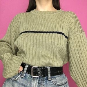 vtg chunky striped sweater